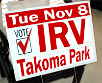 Takoma Park for IRV Lawnsign