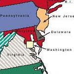 presidential primary map 2004