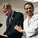 Eleanor Holmes Norton and Tom Davis