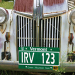Picture of a license plate from Vermont
